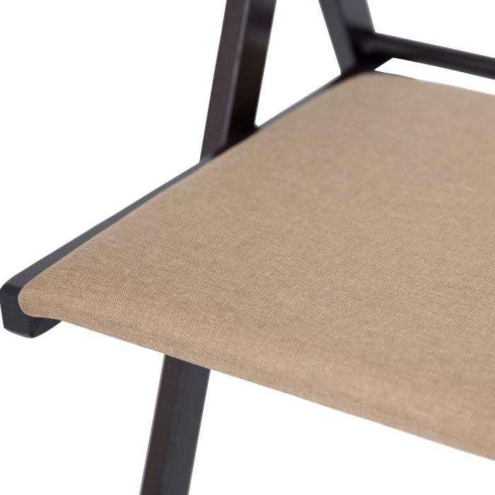 Scaun pliant din lemn IGOR tapitat wenge [7]