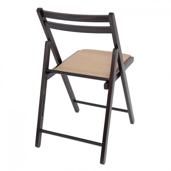 Scaun pliant din lemn IGOR tapitat wenge [2]
