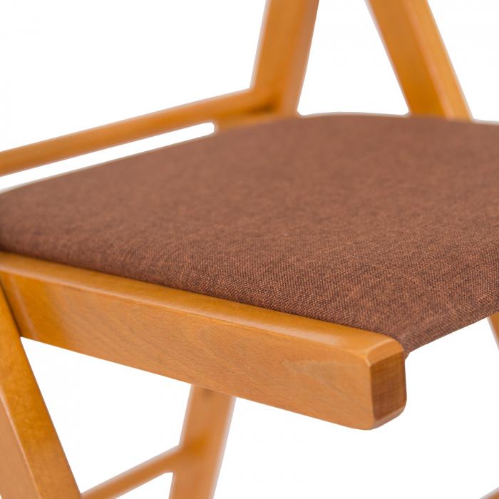 Scaun pliant din lemn Lori tapitat cires [4]