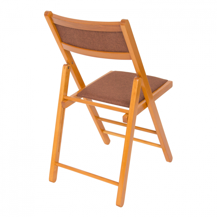 Scaun pliant din lemn Lori tapitat cires [1]