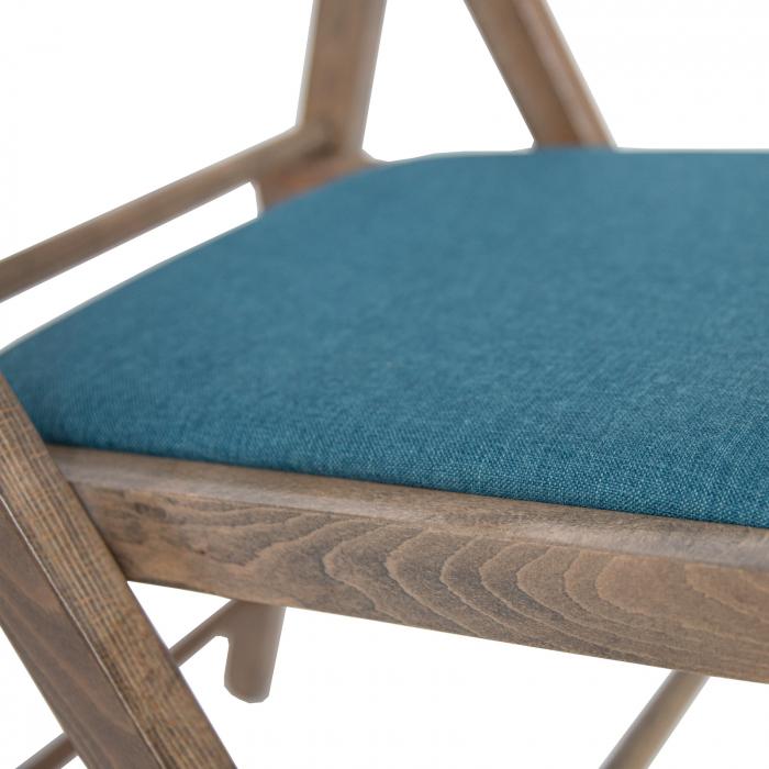 Scaun pliant din lemn Lori tapitat maro-trufa [4]