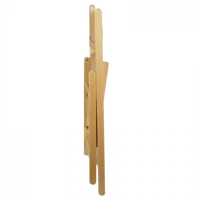 Scaun pliant din lemn Lori tapitat natur [6]