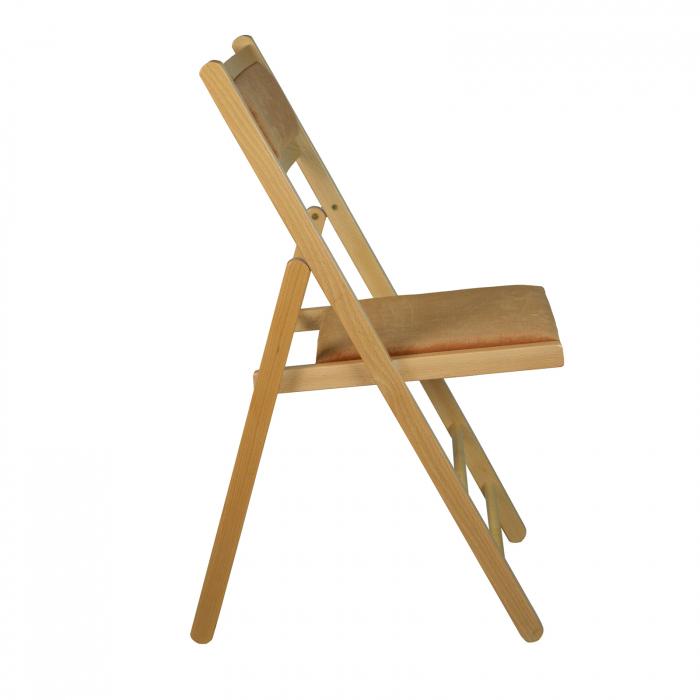 Scaun pliant din lemn Lori tapitat natur [1]