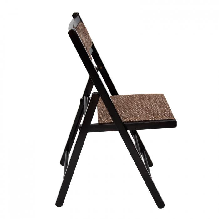 Scaun pliant din lemn Lori tapitat wenge [1]
