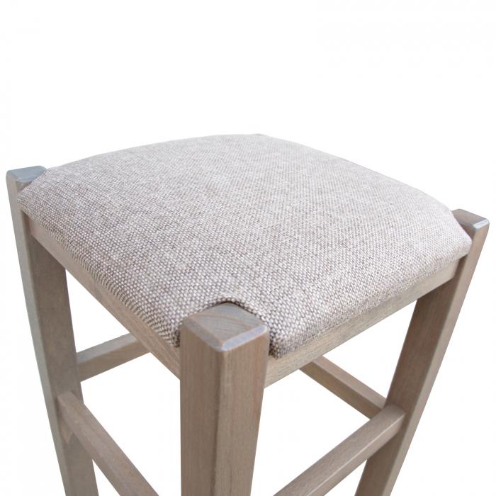 Taburet din lemn Chriss tapitat maro-trufa [2]