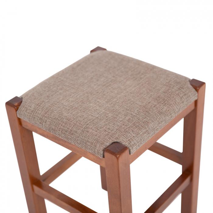 Taburet din lemn Chriss tapitat nuc [2]