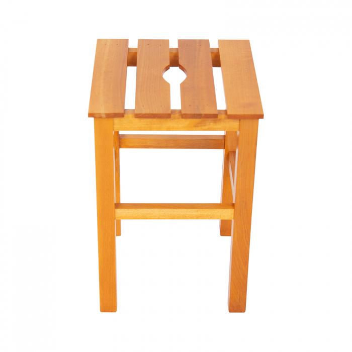 Taburet din lemn Sauna cires [1]