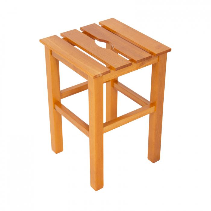 Taburet din lemn Sauna cires [0]