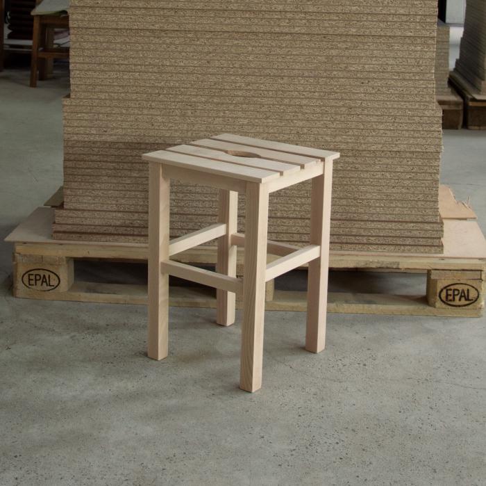 Taburet din lemn Sauna crud [4]