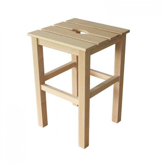 Taburet din lemn Sauna crud [0]