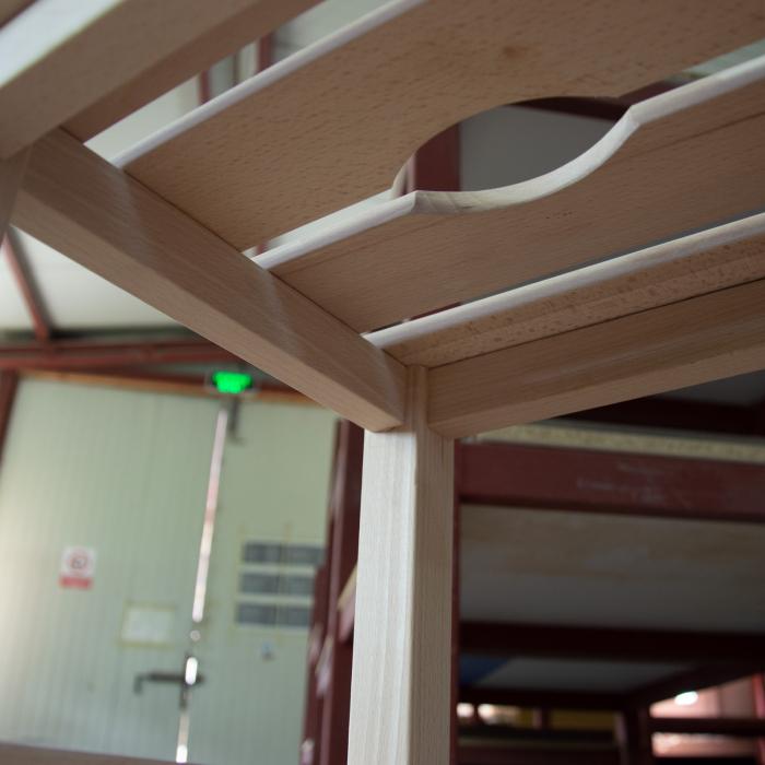 Taburet din lemn Sauna crud [5]