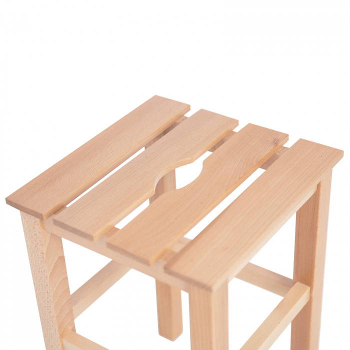 Taburet din lemn Sauna natur [2]