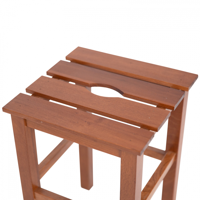 Taburet din lemn Sauna nuc [2]