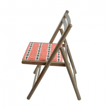 Scaun pliant din lemn Igor RO tapitat maro-trufa [2]