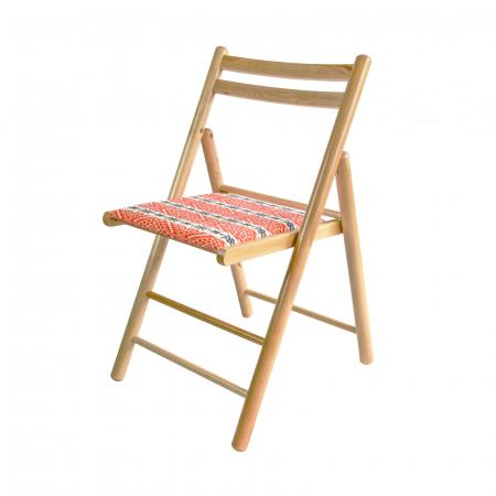 Scaun pliant din lemn Igor RO tapitat natur [4]