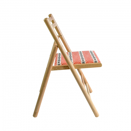 Scaun pliant din lemn Igor RO tapitat natur [1]