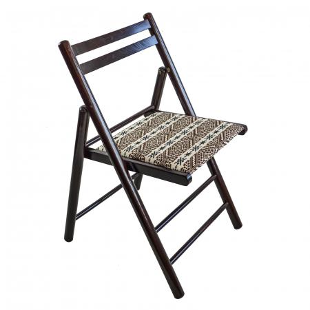 Scaun pliant din lemn Igor RO tapitat nuc ciocolata [0]