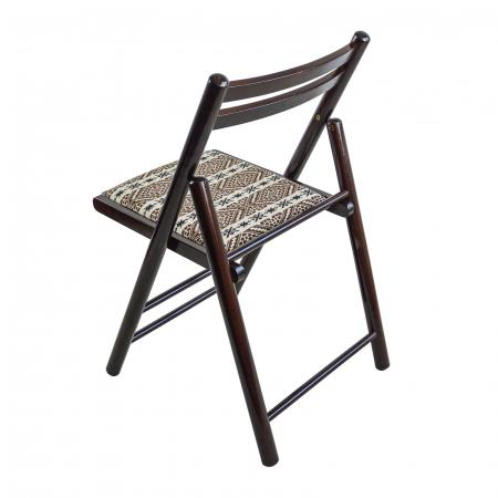 Scaun pliant din lemn Igor RO tapitat nuc ciocolata [2]