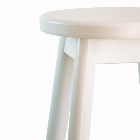 Scaun din lemn BAR alb [2]