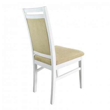 Scaun din lemn Jane tapitat alb [1]