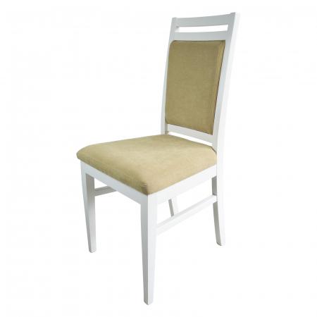 Scaun din lemn Jane tapitat alb [3]