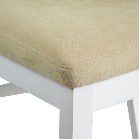 Scaun din lemn Jane tapitat alb [4]
