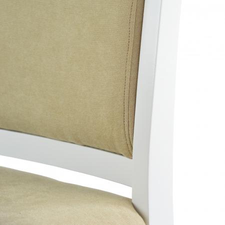 Scaun din lemn Jane tapitat alb [5]
