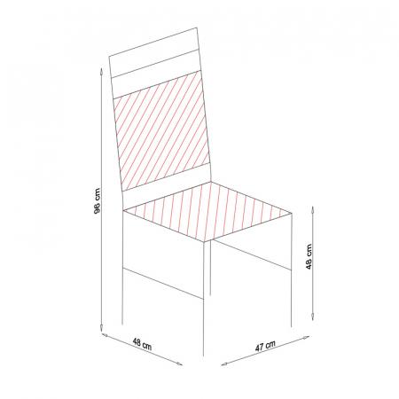 Scaun din lemn Jane tapitat alb [7]