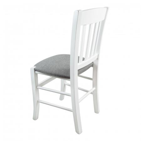 Scaun din lemn Madeira tapitat alb [4]