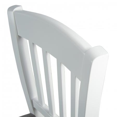 Scaun din lemn Madeira tapitat alb [7]