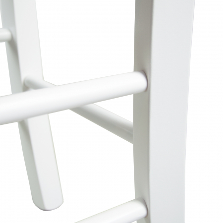 Scaun din lemn Madeira tapitat alb [8]