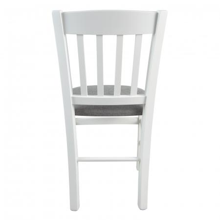 Scaun din lemn Madeira tapitat alb [3]