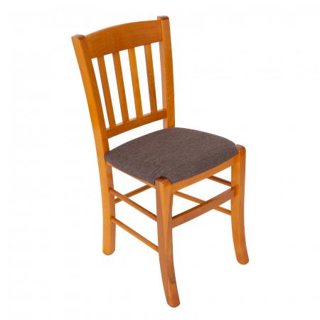 Scaun din lemn Madeira tapitat cires [0]