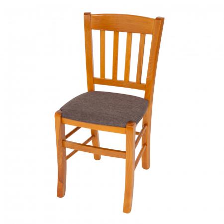 Scaun din lemn Madeira tapitat cires [5]