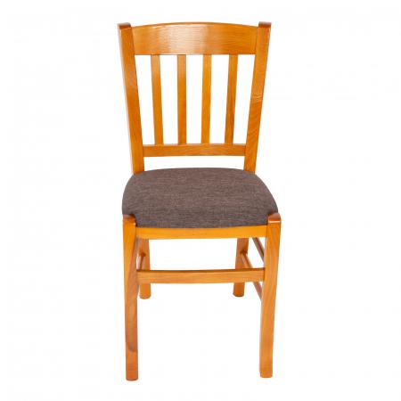 Scaun din lemn Madeira tapitat cires [6]