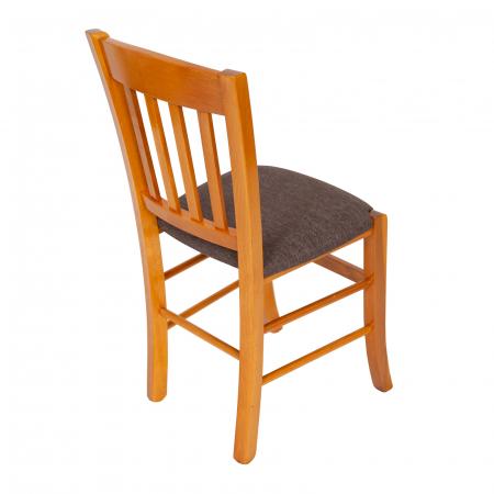 Scaun din lemn Madeira tapitat cires [2]