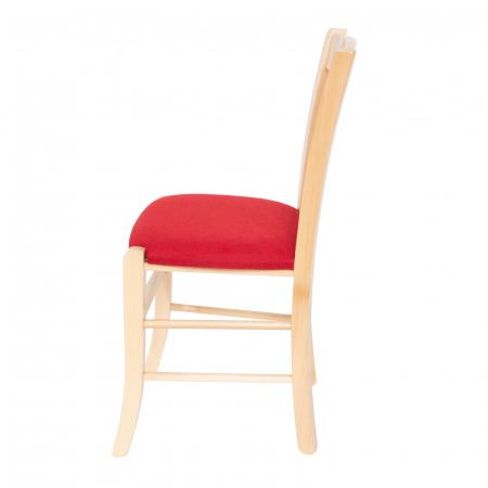 Scaun din lemn Madeira tapitat natur [5]
