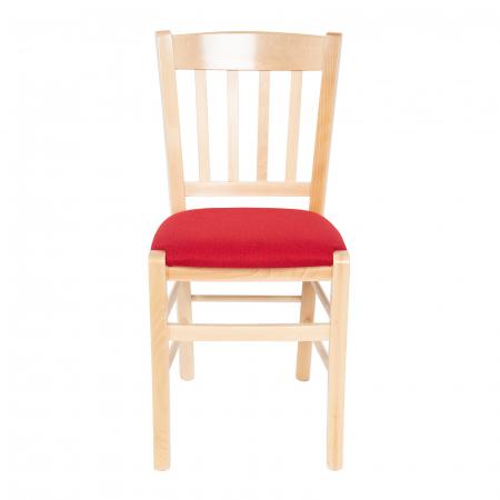 Scaun din lemn Madeira tapitat natur [7]
