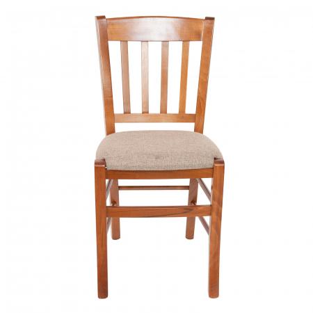 Scaun din lemn Madeira tapitat nuc [7]