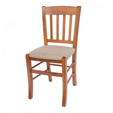 Scaun din lemn Madeira tapitat nuc [6]