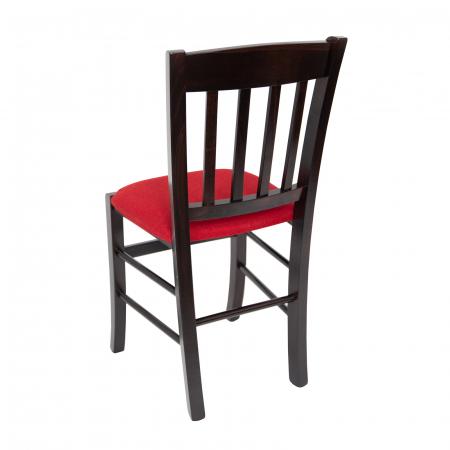Scaun din lemn Madeira tapitat wenge [4]