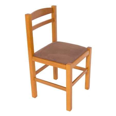 Scaun din lemn Pisa tapitat cires [0]