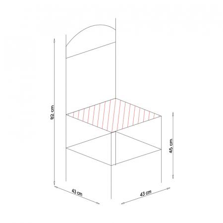 Scaun din lemn Pisa tapitat cires [9]