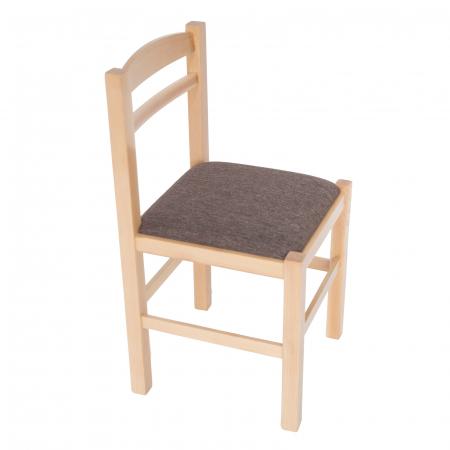 Scaun din lemn Pisa tapitat natur [0]