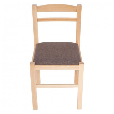 Scaun din lemn Pisa tapitat natur [7]