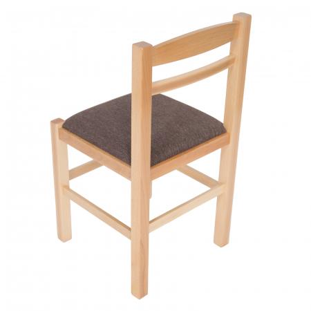 Scaun din lemn Pisa tapitat natur [4]