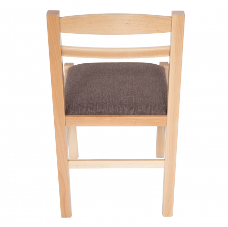 Scaun din lemn Pisa tapitat natur [3]