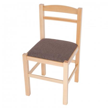 Scaun din lemn Pisa tapitat natur [6]