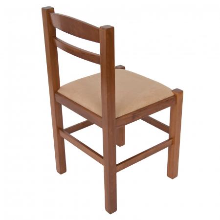Scaun din lemn Pisa tapitat nuc [2]