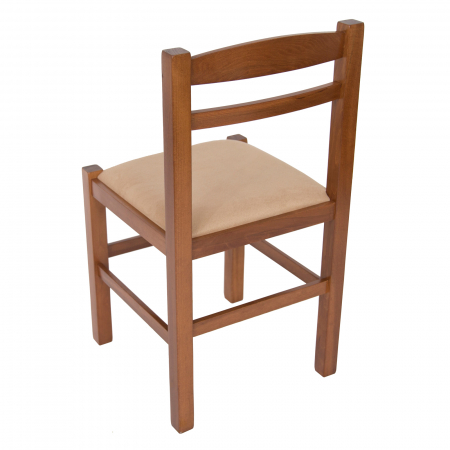 Scaun din lemn Pisa tapitat nuc [4]